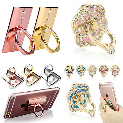 360°Finger Grip Metal Ring Stand Holder For All Mobile Phone Tablet iPhone iPads