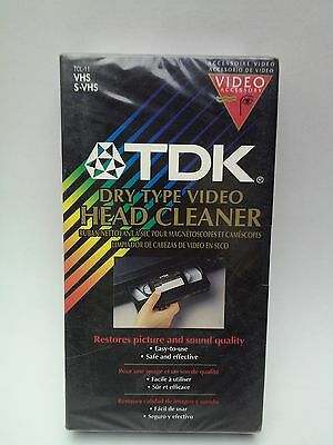TDK TCL-11 VHS S-VHS Dry Type Video Head Cleaner