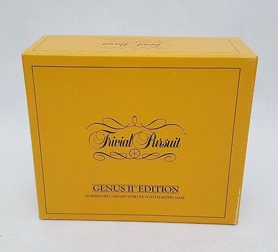 Trivial Pursuit Genus II Edition Subsidiary Card Set Add On Pack Board Game