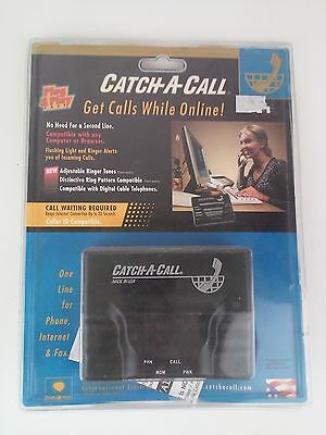 Catch-A-Call Modem Phone Line Switching Device Plug And Play