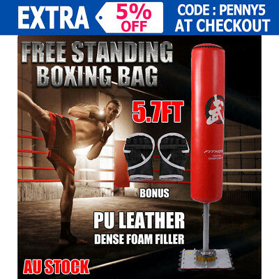 180CM Free Standing Boxing Kick Punching Bag Dummy Target Fitness Exercise Home