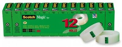 Magic Tape Refills 3/4 x 1000 Inches Boxed 12 Rolls Value Pack