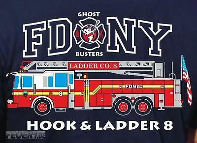 Sweat navy, FDNY Ladder Truck 8 - Ghost Busters, farbig