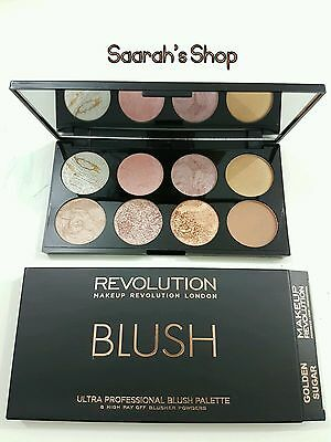 Makeup Revolution Professional Blush Pallete Highlighter Contour in GOLDEN SUGAR