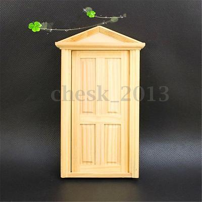 1:12 Natural External Wooden Door Portico Dolls House Miniature Fairy Accessory