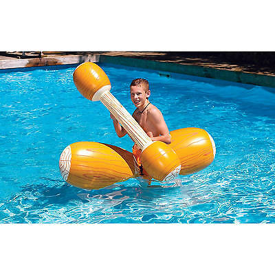 Swimline Log Flume Joust Set Action Inflatable For Swimming Pools