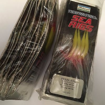 Trade pack of 10 x Shakespeare Steel EYE Lure / mackerel feathers - 4 string