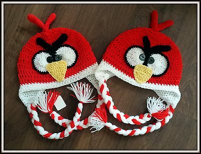 Angry Birds inspired  Red Bird kids Hat choice the size