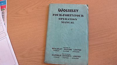 Wolseley Four Forty Four Operation Manual