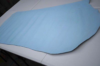 Sky Blue Embossed design  Cowhide Half butt/bend CLEARANCE Regular cow leather