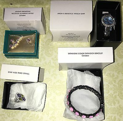 Avon 4 x Jewellery Pieces. Brand New in Boxes. Watch Bracelet, Ring, Necklace Se