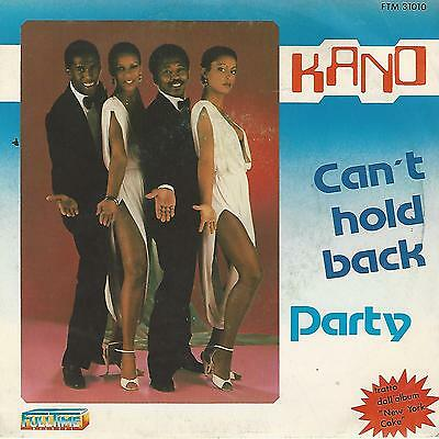 """Kano """" Can't Hold Back / Party """" 7"""" Full Time Made In Italy"""