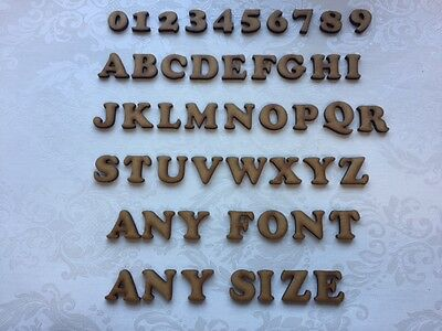 MDF Letters Numbers any font any size crafts embellishments card making scrap bo