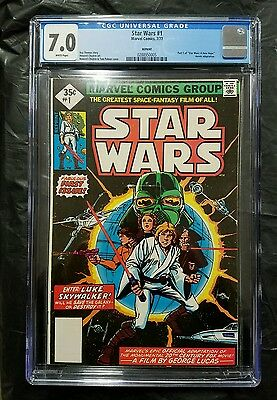 Star Wars #1 1977 35 Cent Reprint Variant Cgc 7.0 A New Hope Vader Leia Luke