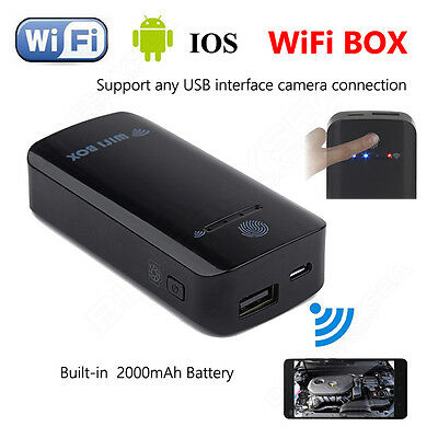 2.4G Wireless Wifi Box To USB Endoscope Inspection Camera For IOS Android Phone