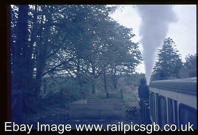 35mm Colour Slide of R&ER Train Departing Eskdale The Green For Ravenglass 1971