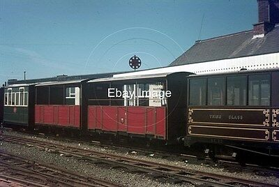 35mm Colour Slide of Talyllyn Railway Carriages at Tywyn Wharf