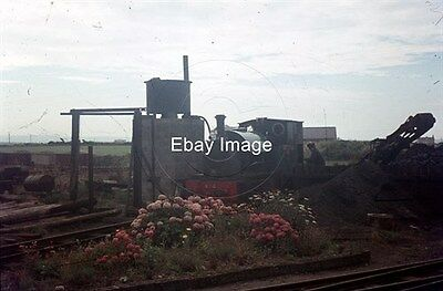 35mm Colour Slide of Talyllyn Railway Loco Edward Thomas Being Serviced at Wharf