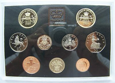 1989 United Kingdom Proof 9 Coin Set from the Royal Mint with RMP & COA