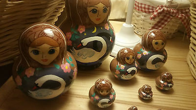 Hand-painted Russian Matryoshka Nesting Doll 9 Piece from Moscow