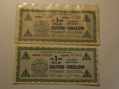 Canada Quyon – Onslow Quebec, 1975 Municipal Dollars  #3923