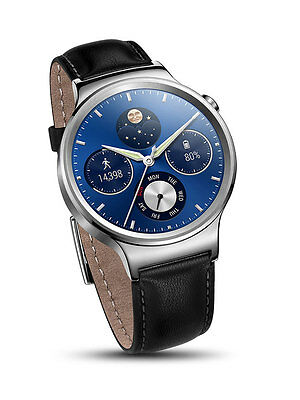Huawei W1 H115016 Stainless Steel Classic Smartwatch Leather Strap iOS Android