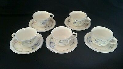 (5) Villeroy & Boch RIVIERA Cups & Saucers mint