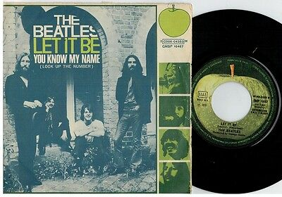 THE BEATLES Let it be 45rpm 7' + PS 1970 ITALY EX+