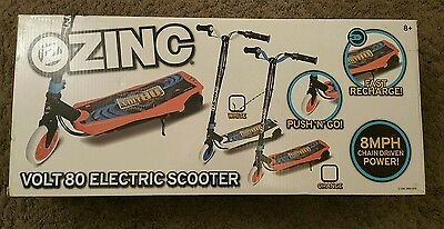 White Zinc Volt 80 Electric Scooter. Battery powered NEW SEALED