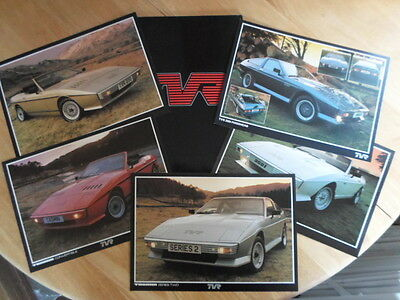TVR TASMIN & 350i orig 1980s UK Mkt Glossy Sales Portfolio with Brochures x5