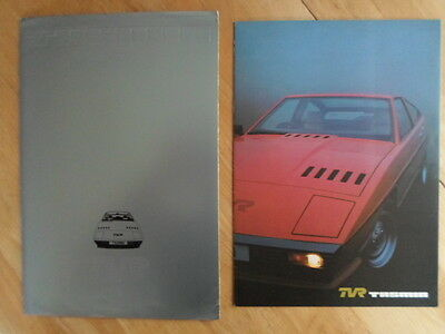 TVR TASMIN orig 1980 UK Mkt Full Sales Brochure in Card Folder