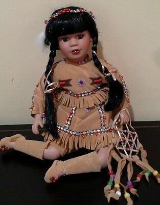 Native American Doll - porcelain & cloth