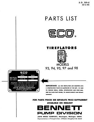 Original Factory 1920's early 30s ECO Tireflator B and W photo air tire meter