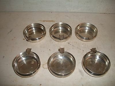 6 Vintage Rogers Lunt & Bowlen RL&B sterling silver mini size ashtrays #1169