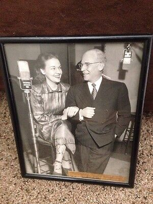 Vintage Columbia Records Signed By Ted Wallerstein Dorothy Shay Photo Graph