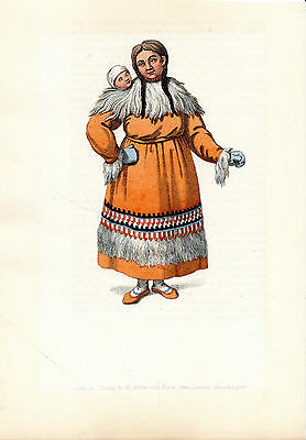 Traditional Russian Costumes - Kamstchatka -  Hand-Coloured Copperplate (1803)