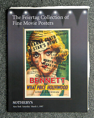 Sotheby's 1997 Feiertag Collection Of Fine Movie Posters Auction Catalog
