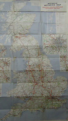 Michelin Motoring Map - Great Britain 1968