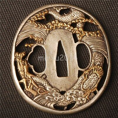 Dragon  High Grade Brass Tsuba Handguard For Japanese Katana & Wakizashi &tanto