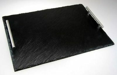 Slate Serving Tray 36cm x 25 cm With Carrying Handles