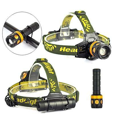 3000lm XM-L T6 LED 3in1 Zoomable Lampe Frontale Lampe torche Lampe Vélo IP