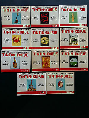 Rare UNE SEULE décalcomanie Tintin 1963, format italien, complet Kuifje Tim
