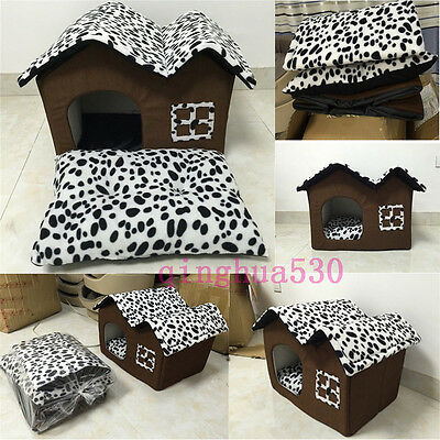 Pet Dog Cat Bed Puppy Cushion House Pet Soft Warm Kennel Dog Mat Bed Removable