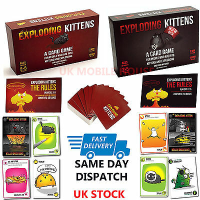 New Exploding Kittens Card Game Cat Goat Laser Beams Family Friends Bithday Game