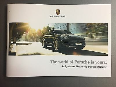 "2014 Porsche Full Line ""World of Porsche"" Showroom Advertising Sales Brochure"