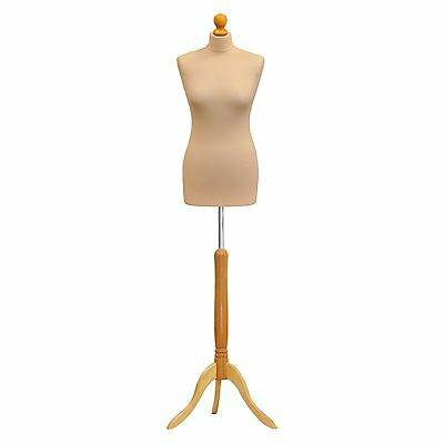 Tailor Dummy Dressmaker Mannequin Bust with Display Stand UK Size 8/10