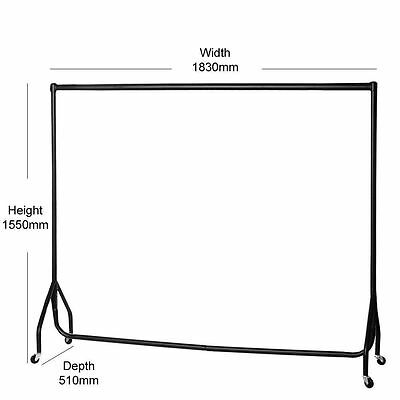 Heavy Duty 6FT Garment for Clothes Shop Display Market Rail Stand or car boot