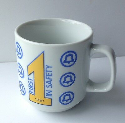 Vintage BELL Telephone MUG 1981 First In Safety Coffee Cup Advertising