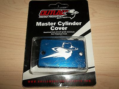 Outlaw Racing Blue Front Brake Master Cylinder Cover Yamaha Raptor Honda TRX 450