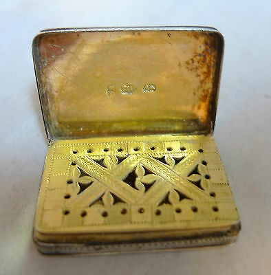 Georgian Silver Vinaigrette By Joseph Willmore 1808 3.3cm x 2.2cm